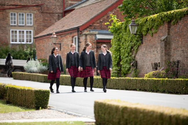 TOP MARKS: Pupils at Queen Margaret's School, Escrick, which has been rated excellent by the Independent Schools Inspectorate