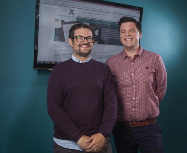Joe Richardson (left) and Thomas Johann (right) have joined York-based PR and communications agency, The Partners Group
