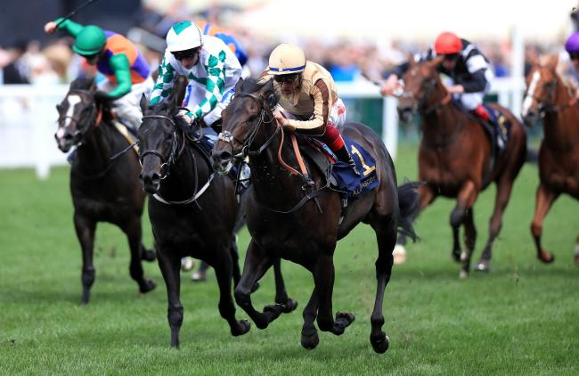 OPENER: North Yorkshire trainer Richard Fahey's Ventura Rebel (left) is bested by Frankie Dettori and A'Ali on their way to winning the Norfolk Stakes during day three of Royal Ascot. Picture: Mike Egerton/PA Wire