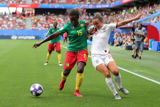 England's Lucy Staniforth in action against Cameroon in the FIFA Women's World Cup