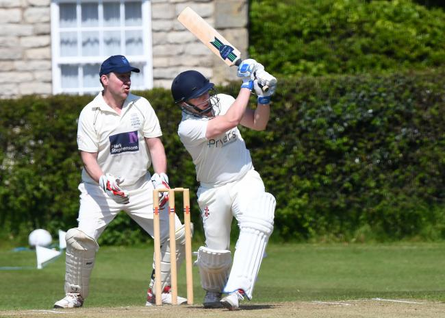 DRURY'S OUT: Dunnington left their first T20 Blast Finals Day with mixed feelings after winning a thrilling semi-final against Yorkshire Academy before losing the final to Harrogate Town. George Drury, pictured batting, took 3-28 for the beaten finali