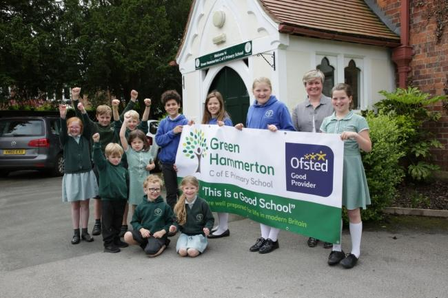 SUCCESS: Green Hammerton CE School, has been judged as 'good' after a two day Ofsted inspection
