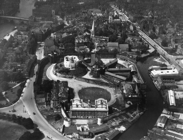York Press: A 1926 view of York Castle area from the air