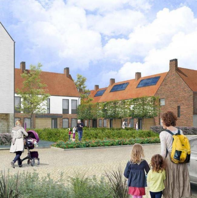 TRAFFIC CONCERNS: An artist's impression of the planned Derwenthorpe development