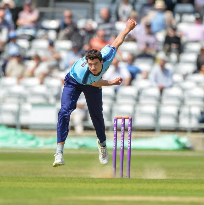York-born fast bowler in action for Yorkshire. Picture: Ray Spencer