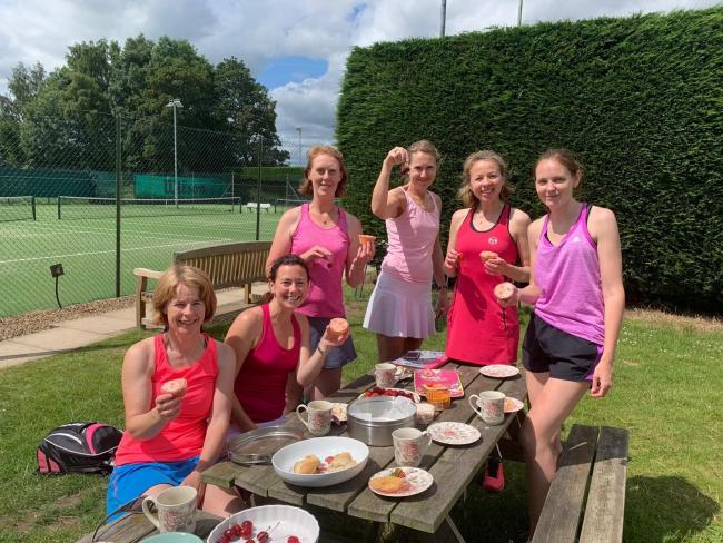 League leaders York 1 during the Fulford Ladies' Invitation League's 'Pink Weekend', which raised £562 for breast cancer awareness. From left to right: Siobhan Gilfillan, Kathryn Place, Jill Le Pla, Wendy Stirke, Loise Marshman, Emma