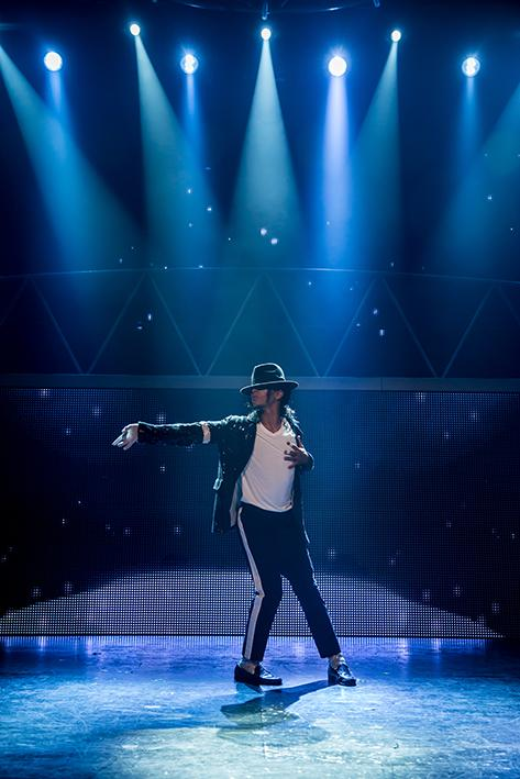 TERRIFIC: Kieran Alleyne in the Michael Jackson tribute Thriller Live