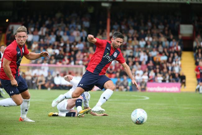 York City midfielder Paddy McLaughlin gets away from Adam Forshaw during the 5-0 pre-season defeat at Bootham Crescent. Picture: Gordon Clayton