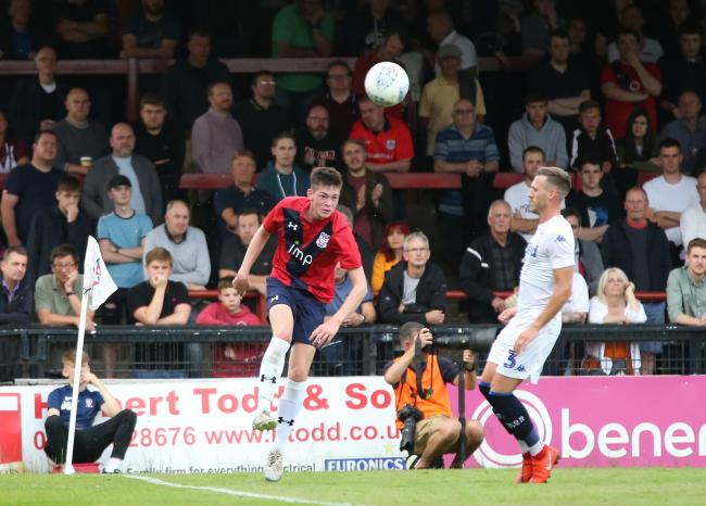 York City central defender Josh King in action during a pre-season friendly against Leeds United before signing ahead of the 2019/20 campaign. Picture: Gordon Clayton