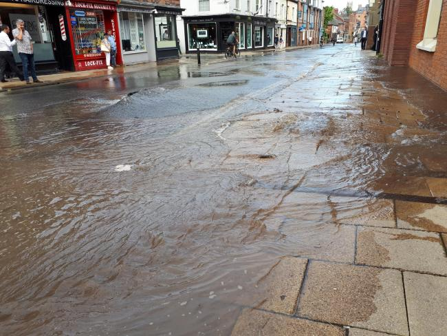 FLOOD: The effects of the recent Walmgate burst water main