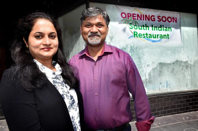 Saji Kurian and Sminy Saji , who are opening a South Indian Restaurant in Fossgate , York  Picture Frank Dwyer