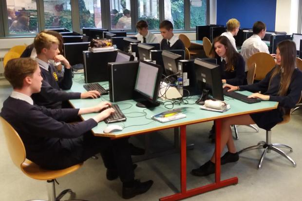 WORKING: Students making use of the facilities at All Saints RC School in York
