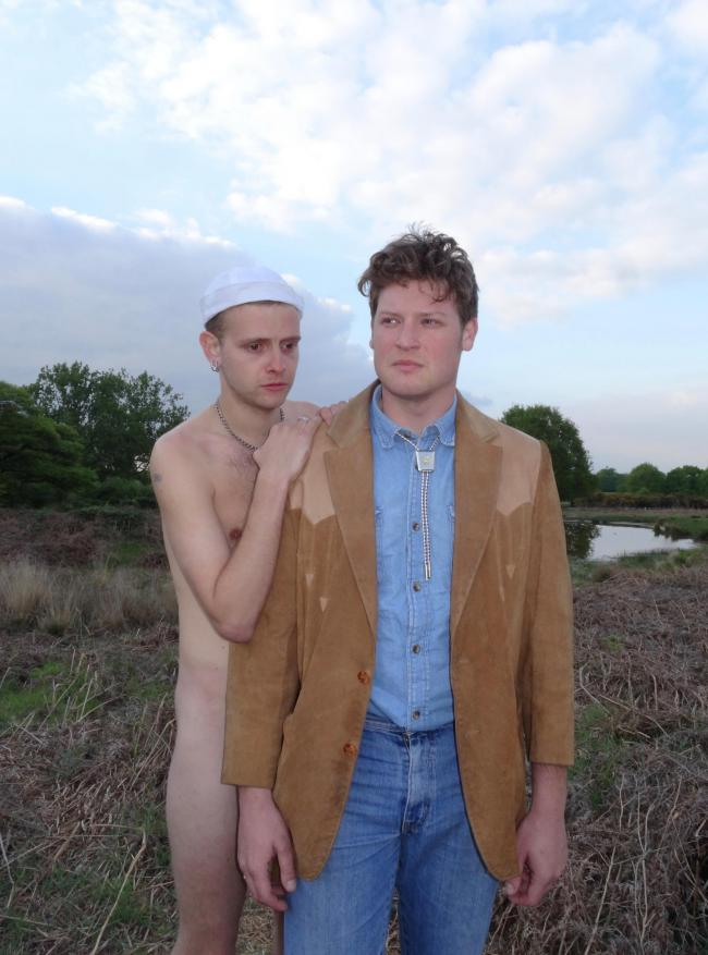 MEET THE CARAVAN GUYS: Theo Mason Wood, left, and Albert Haddenham discuss masculinity in How To Beat Up Your Dad