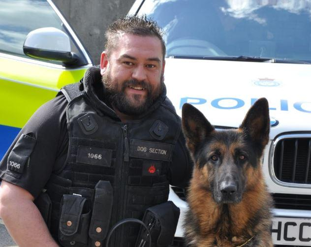 PC Mick Atkinson, who was a dog handler with North Yorkshire Police