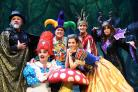 PANTO TIME: Mark Little, left, Steve Wickenden, Martin Daniels, Louise Henry, Jonny Muir and Vicki Michelle launch Snow White And The Seven Dwarfs at the Grand Opera House, York. Picture: David Harrison
