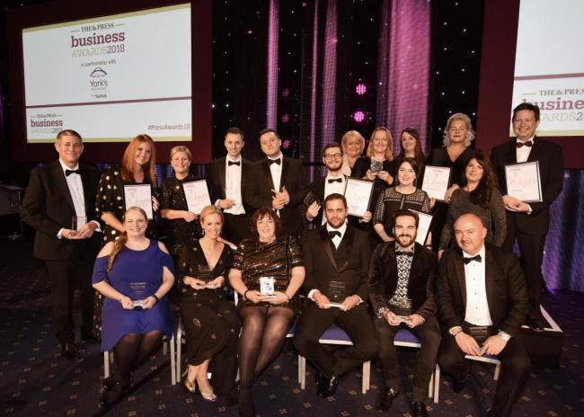 CONGRATULATIONS: York Press Business Awards winners 2018