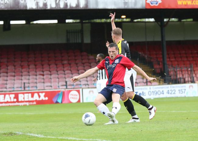 Dan Maguire in action for York City against Notts County. Picture: Gordon Clayton
