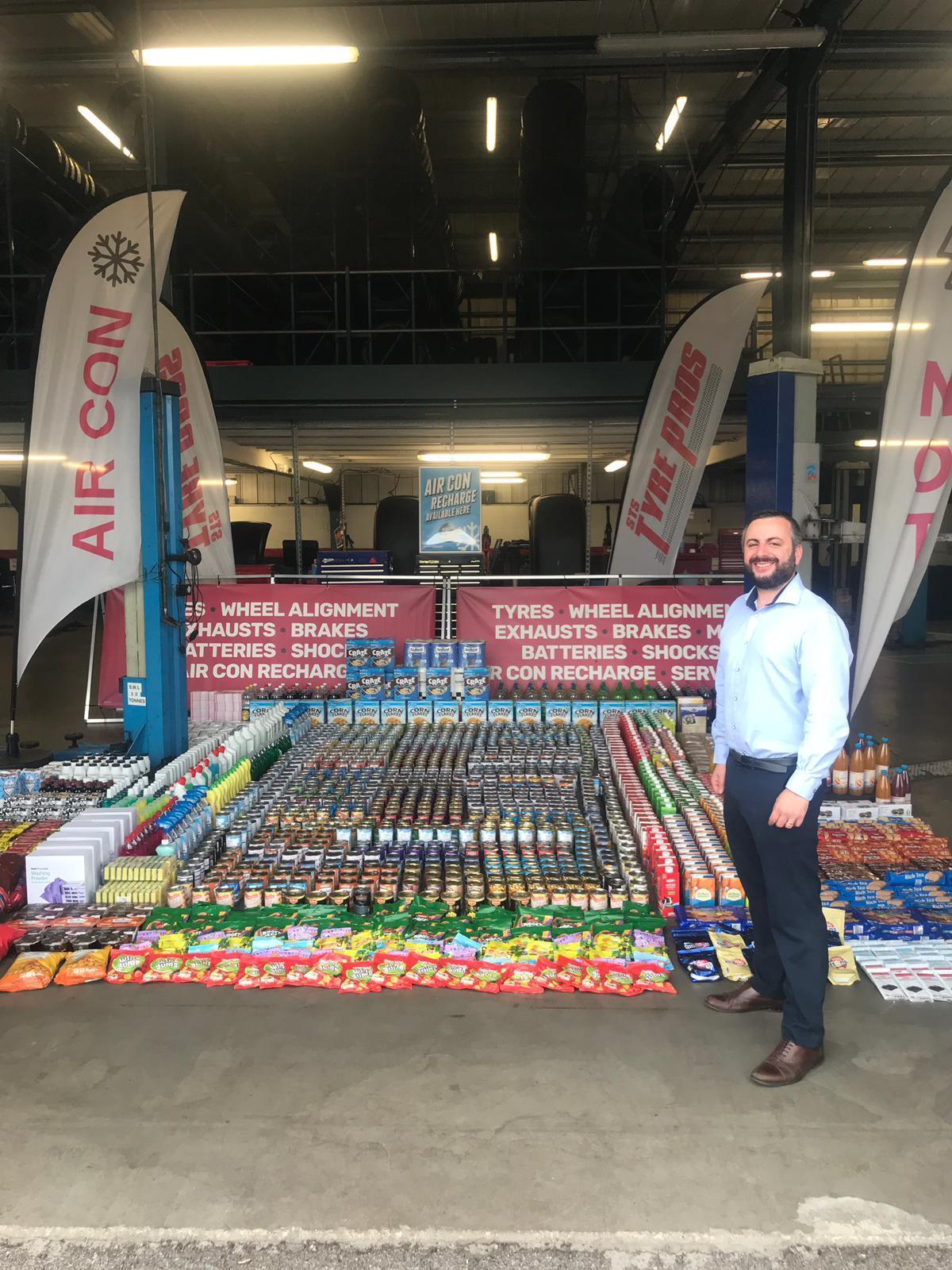 York Tyre Retailer Makes Huge Donation To City Foodbank