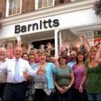 Barnitts staff celebrate their success in the Shop Of The Year Competition