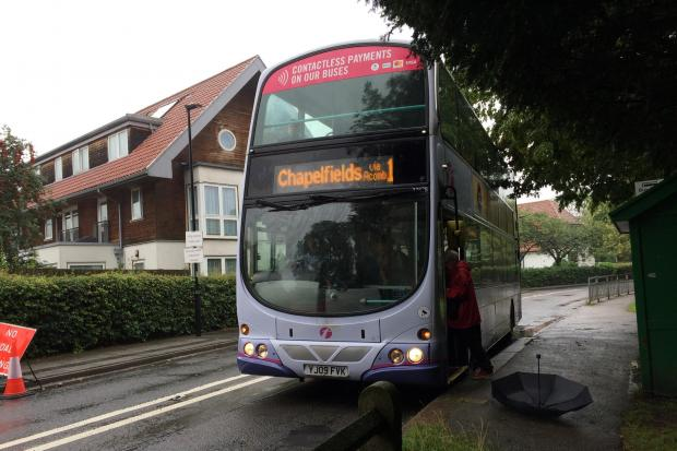A First York bus at New Earswick