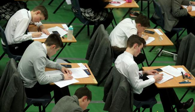 Pupils are being offered help and advice on exam results day Picture: Gareth Fuller/PA Wire