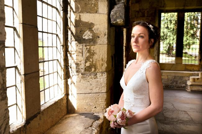 Jessica Robinson, wedding and events sales supervisor  in a wedding dress from Elena Ferrara Bridal , Goodramgate ahead of a previous Hospitium Wedding Fair Picture Frank Dwyer