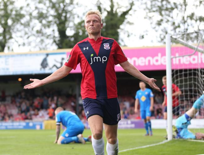 York City striker Jordan Burrow has scored three times in the last four games. Picture: Gordon Clayton