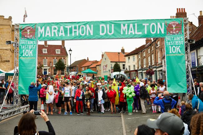Participants taking part in last year's Marathon Du Malton, which attracted hundreds of runners