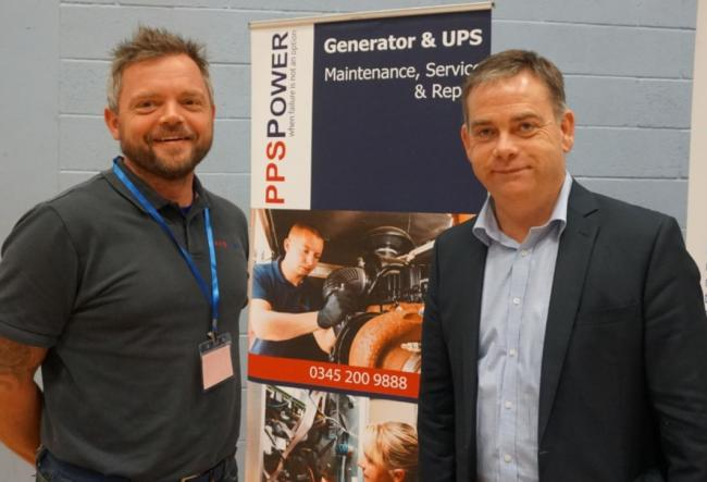 Stephen Peal of PPS Power and Selby and Ainsty MP Nigel Adams at a previous jobs fair