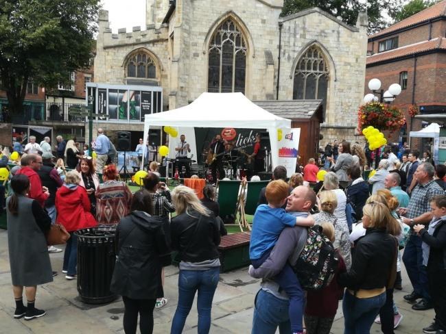 Crowds gather at the Coppergate festival last year