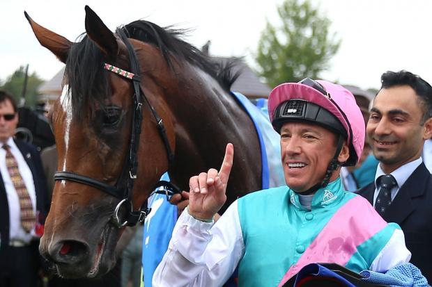 Frankie Dettori celebrates after winning the Darley Yorkshire Stakes on Enable during the Ebor Festival at York Racecourse. Picture: Nigel French/PA Wire