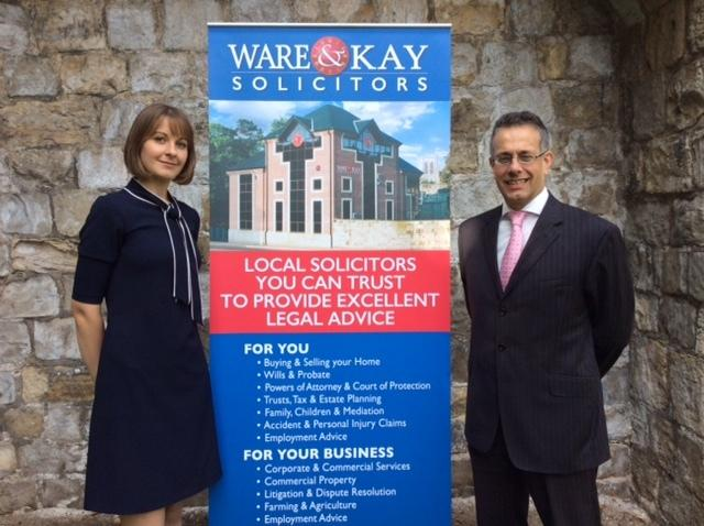 Bella O'Keeffe, pictures with Ware & Kay director David Hyams, has returned to the York law firm to join its Wills & Probate team