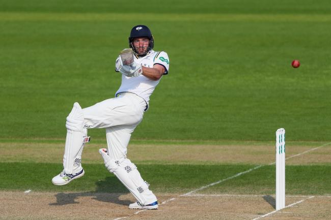 Jack Leaning in action against Nottinghamshire. Picture: Alex Whithead/SWPix