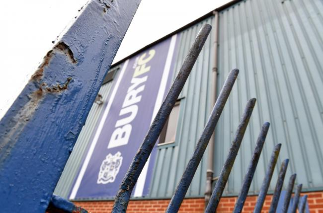 Rusty gates at Bury's Gigg Lane ground. Picture: Dave Howarth/PA Wire