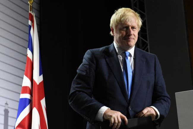 Prime Minister Boris Johnson during a press conference at the conclusion of the G7 summit in Biarritz, France. Picture: Stefan Rousseau/PA Wire