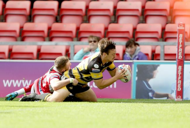 Scorer of two tries at the weekend, Will Oakes is again named in the York City Knights 19-man squad ahead of the trip to Halifax. Picture: Gordon Clayton