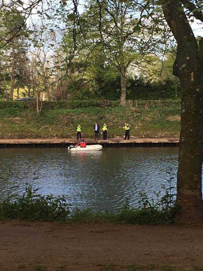 Emergency services on the River Ouse on the day Jean Cruddas drowned Picture: Jonathan Kellaway