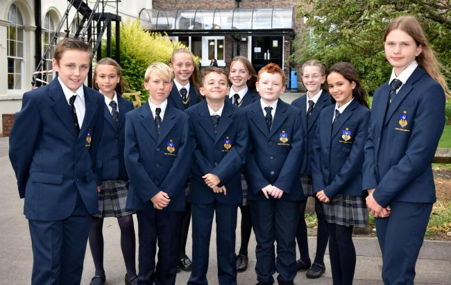 Pupils in their new uniforms at All Saints RC School   Picture Frank Dwyer
