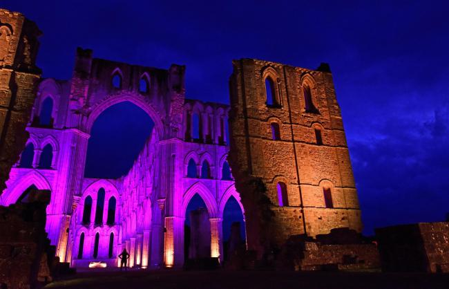 The touring artwork Museum of the Moon will illuminate the ruins of Rievaulx Abbey for four nights later this month