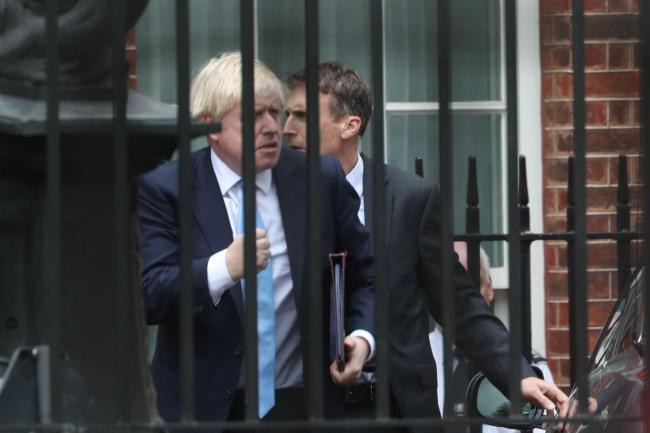 Prime Minister Boris Johnson arrives in Downing Street, London, following his visit to Ireland and ahead of last night's marathon session in Parliament at which he failed once again to get MPs to agree to a snap election. Parliament was suspended for