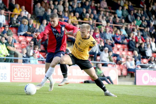 York City defender Nathan Dyer, pictured in action against Southport, impressed manager Steve Watson during the 2-0 win over Darlington on Saturday. Picture: Gordon Clayton