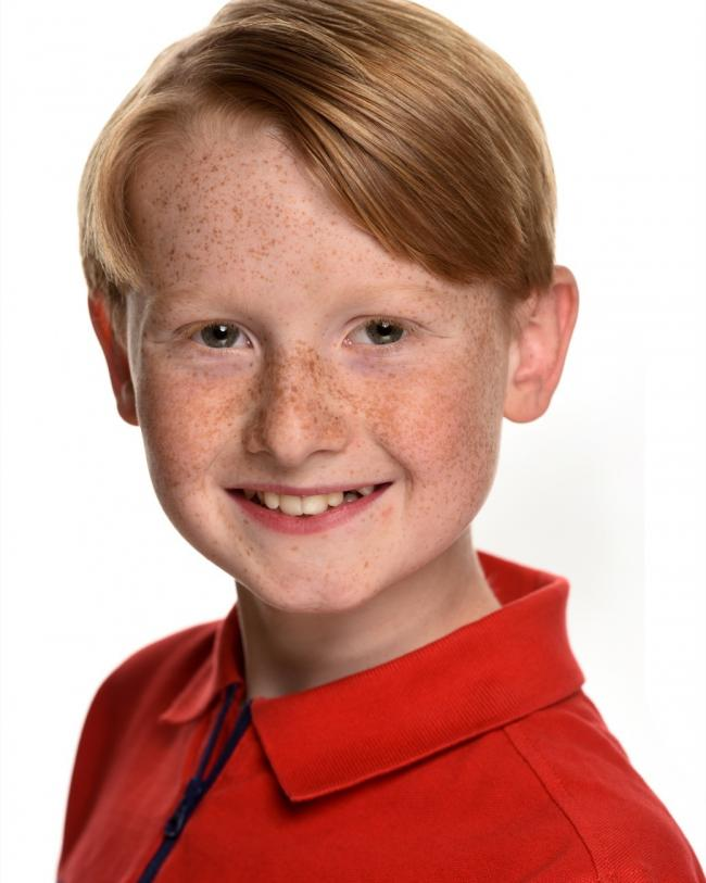 Willem Roberts, 11, will play the role of 'Benji' during the Braford leg of the tour
