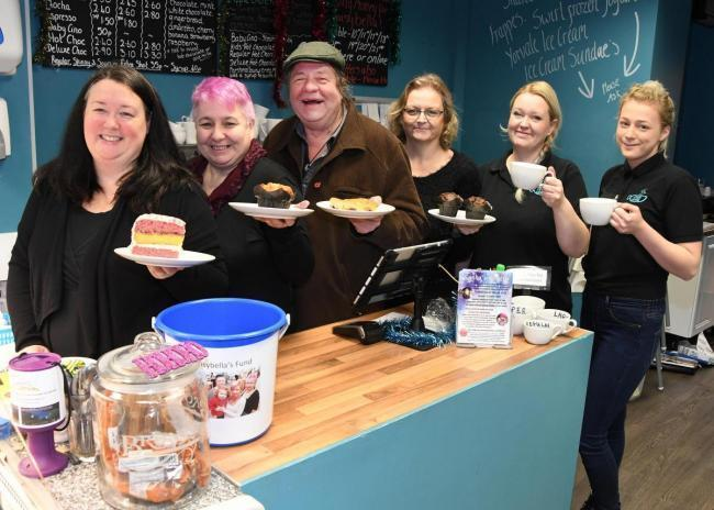 Jo Millner, left, with colleagues at Chill in the Community, in Front Street, Acomb, when it first opened in York in 2016