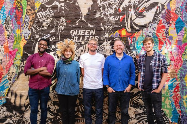 Meet the York Design Week team, from left: Civir-Ter Orga, Rebecca Carr, Richard Corrigan, Owen Turner and Ben Porter