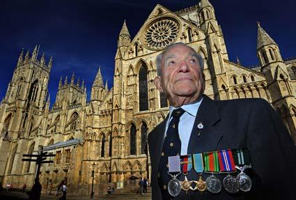 Terry Clark, 90, of Wheldrake, at York Minster for a special service to mark Battle Of Britain Sunday. The event also marked the 70th anniversary of the Second World War.