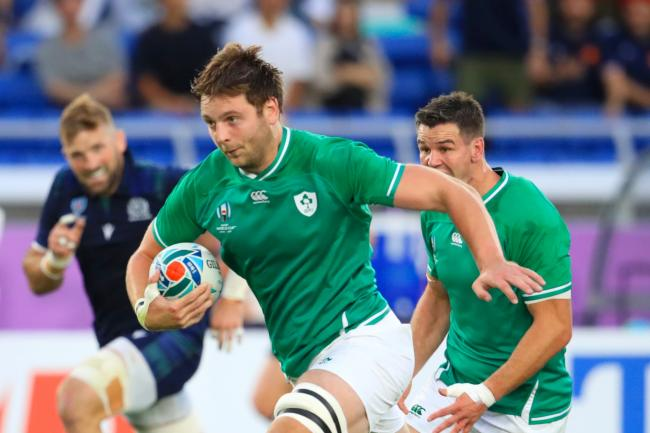 Iain Henderson, pictured, on the charge for Ireland at the World Cup in Japan