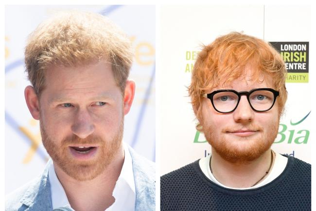 The Duke of Sussex and Ed Sheeran (Facundo Arrizabalaga/Victoria Jones/PA)
