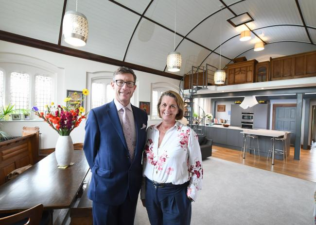 Ben and Tarnia Hudson at The Chapel which is one of the first properties to be marketed by their Prestige service