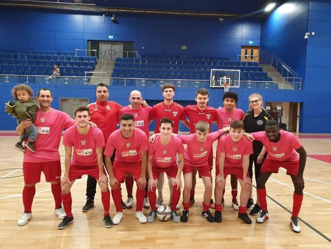 The 2019 York Futsal team.