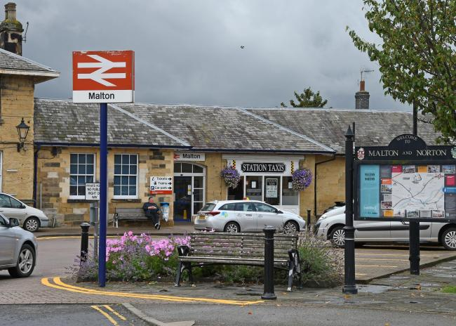 Malton Railway Station where passengers have expressed their anger at overcrowded trains and delays